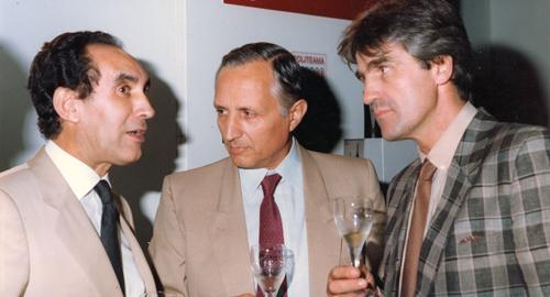 Carmelo Scoma, Franco Picone e Nino Benvenuti all'inaugurazione Medivini