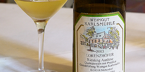 Lorenzhofer Riesling Auslese2003