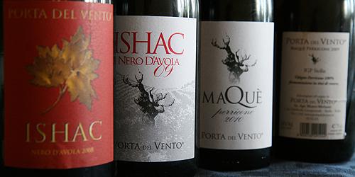 Porta del vento, alcuni vini