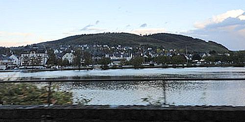 Sankt-Aldegund all'alba