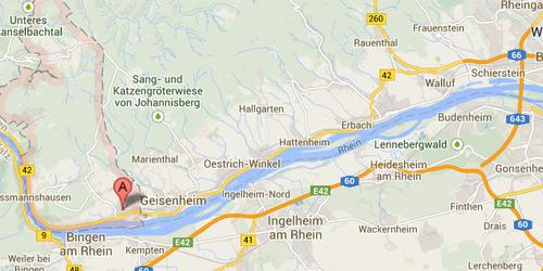 Rheingau, mappa
