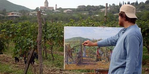 John che dipinge le vigne