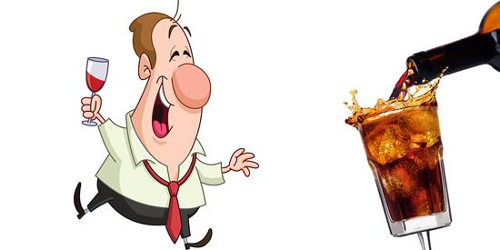 Dalla coca-cola, al Rum e coca, al gewurztraminer il passo è breve